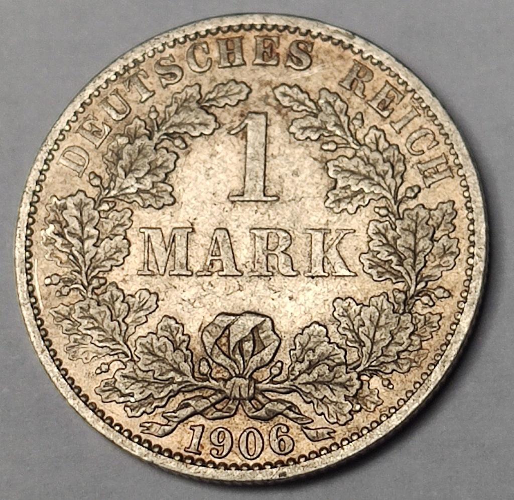 Niemcy 1 Mark 1906 Mennica AA Cesarstwo