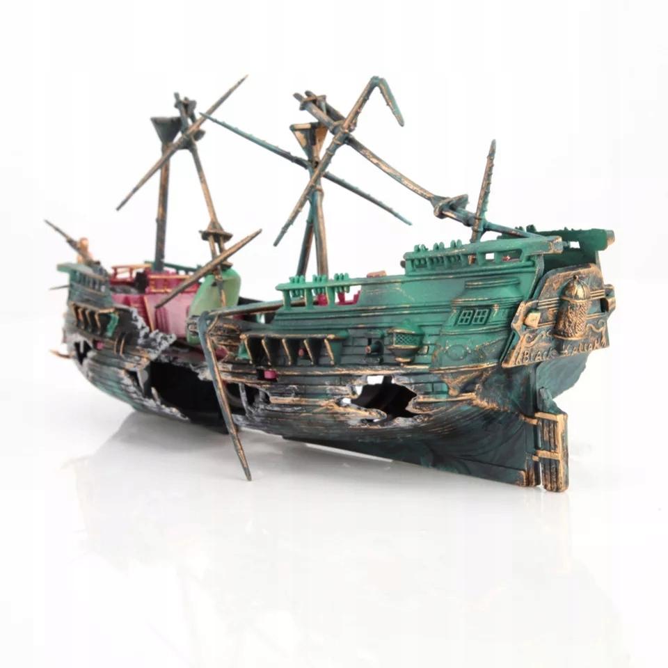 Statek Napowietrzający do Akwarium Dekoracja