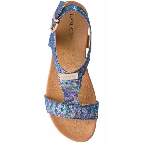 Lasocki skórzane sandały 39 Nowe! multicolor ccc