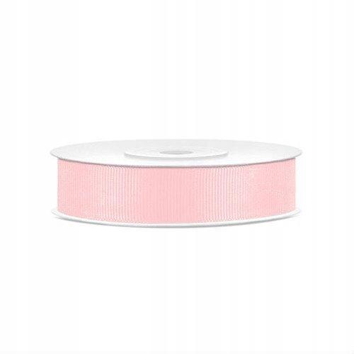 Rypsowa tasiemka 15mm/25 m - różowy jasny