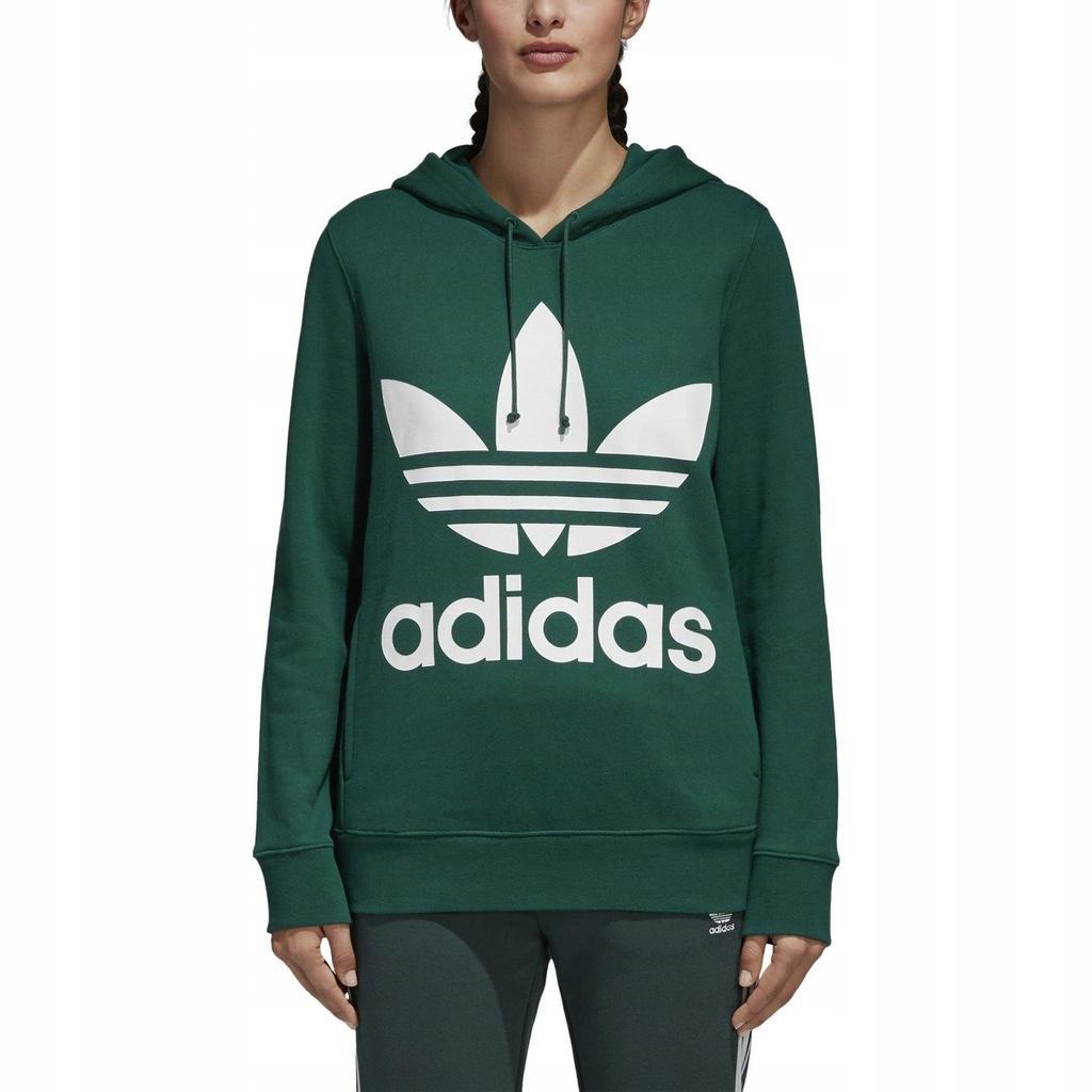 Bluza Z Kapturem Damskie Adidas Trefoil Zielony CE2412
