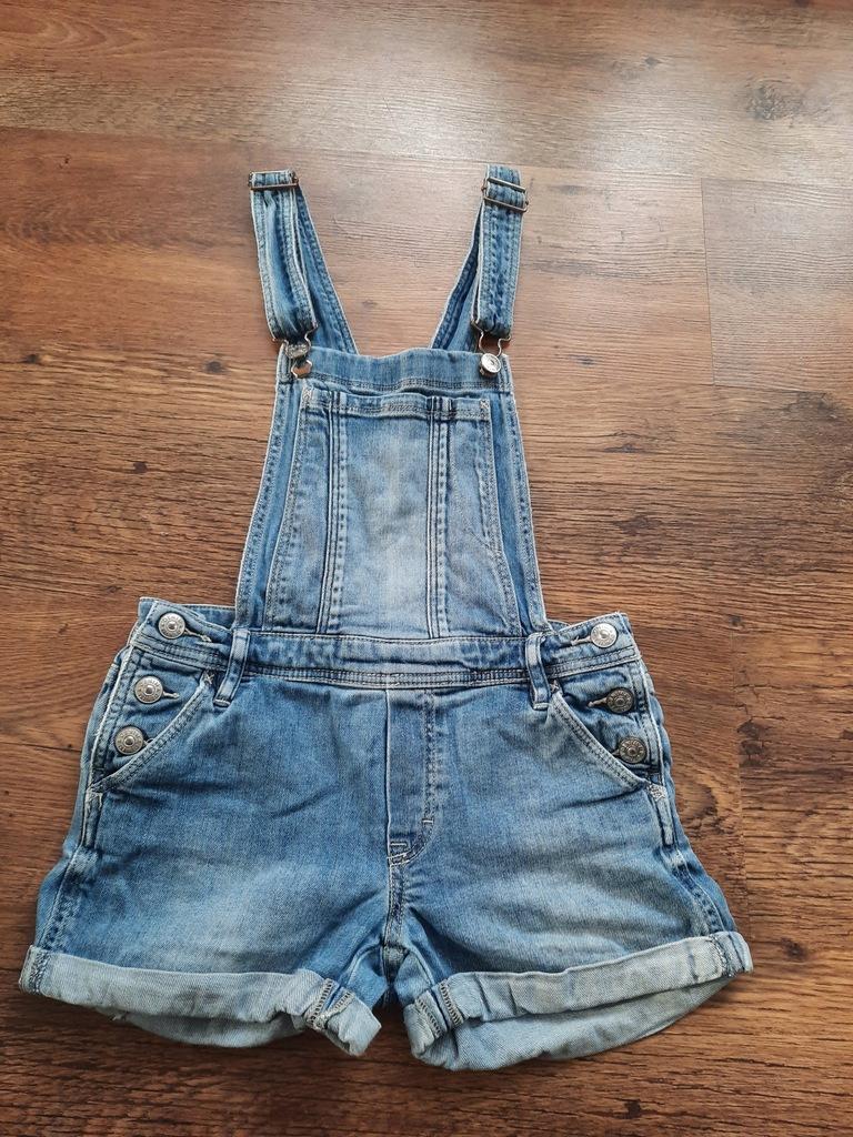 H&M jeansowe ogrodniczki rozmiar 146
