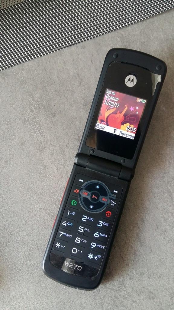 Motorola W270 stary telefon z klapką