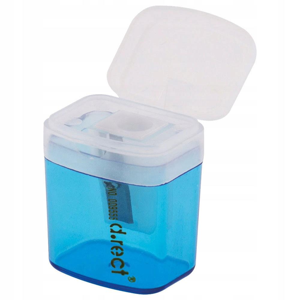 Temperówka plastik kwadrat z pojemnikiem