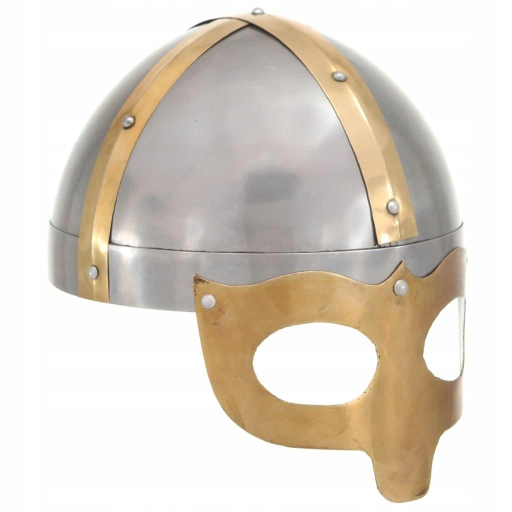Replika zabytkowego hełmu rzymskiego, LARP, srebrn