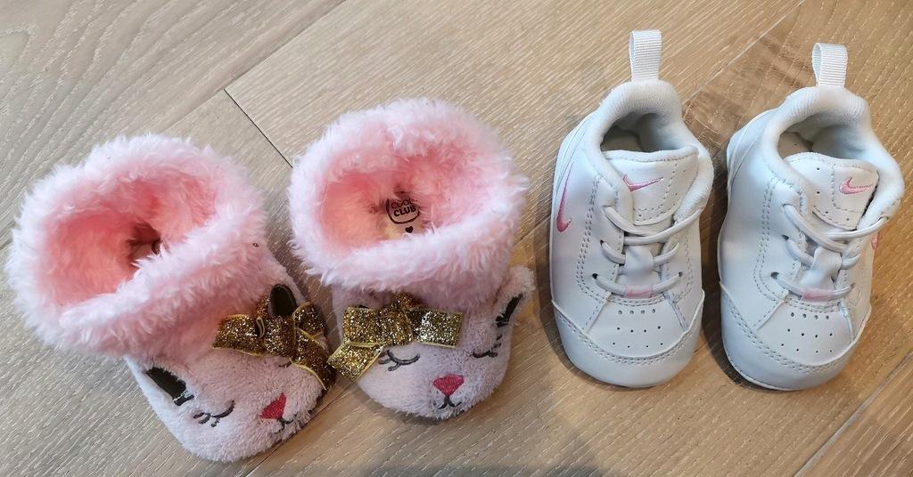 Buciki niemowlęce Nike 17 Cool Club 18 2 komp NOWE