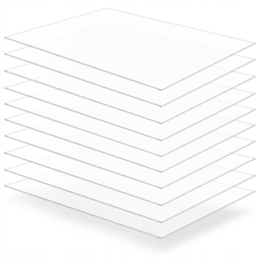 Przezroczyste płyty akrylowe, 10 szt., 60 x 80 cm,