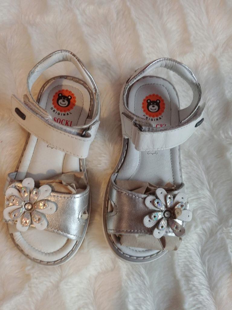 Sandałki sandały skórzane dla dziewczynki rozmiar 25 Lasocki