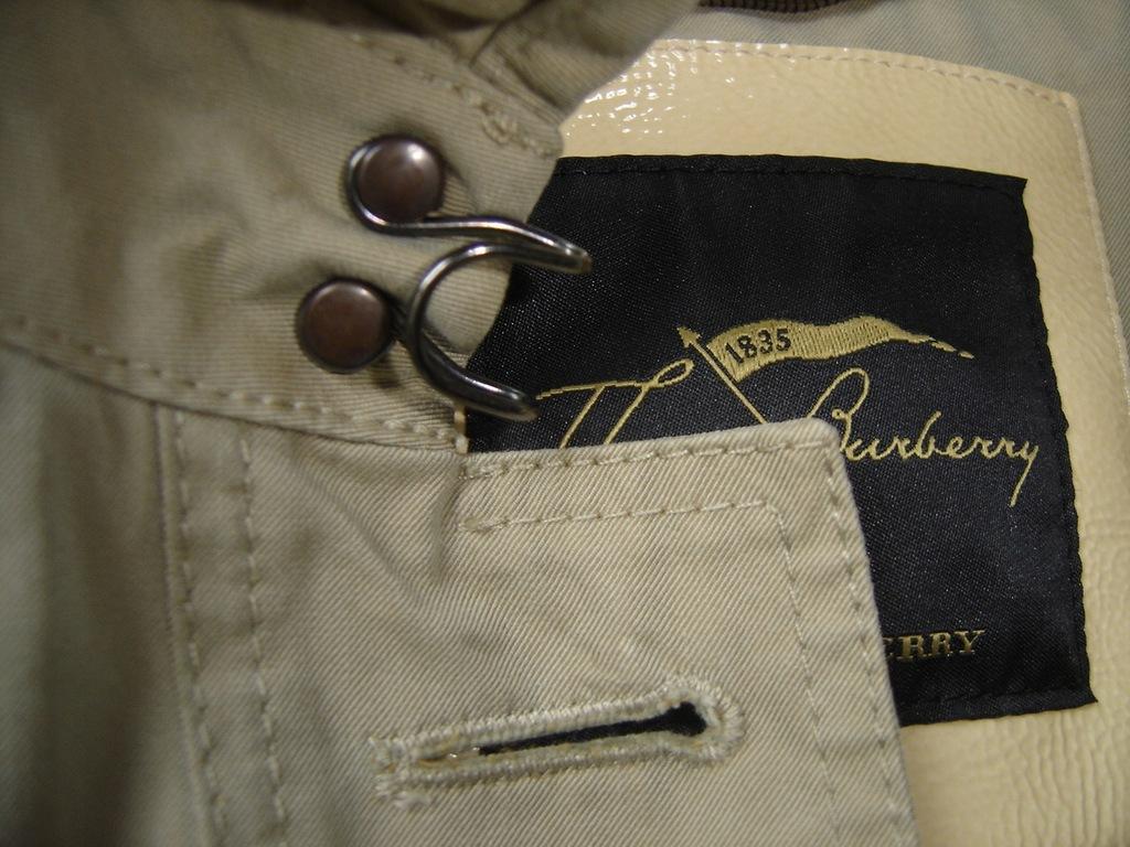 THOMAS BURBERRY 1835 płaszcz trencz prochowiec 38