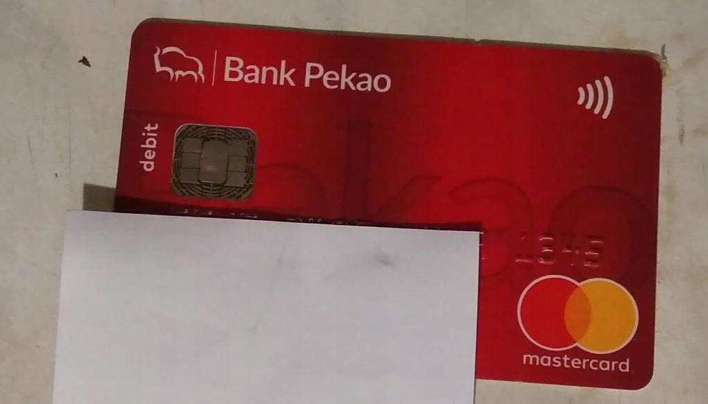 KARTA BANK PEKAO DO KOLEKCJI