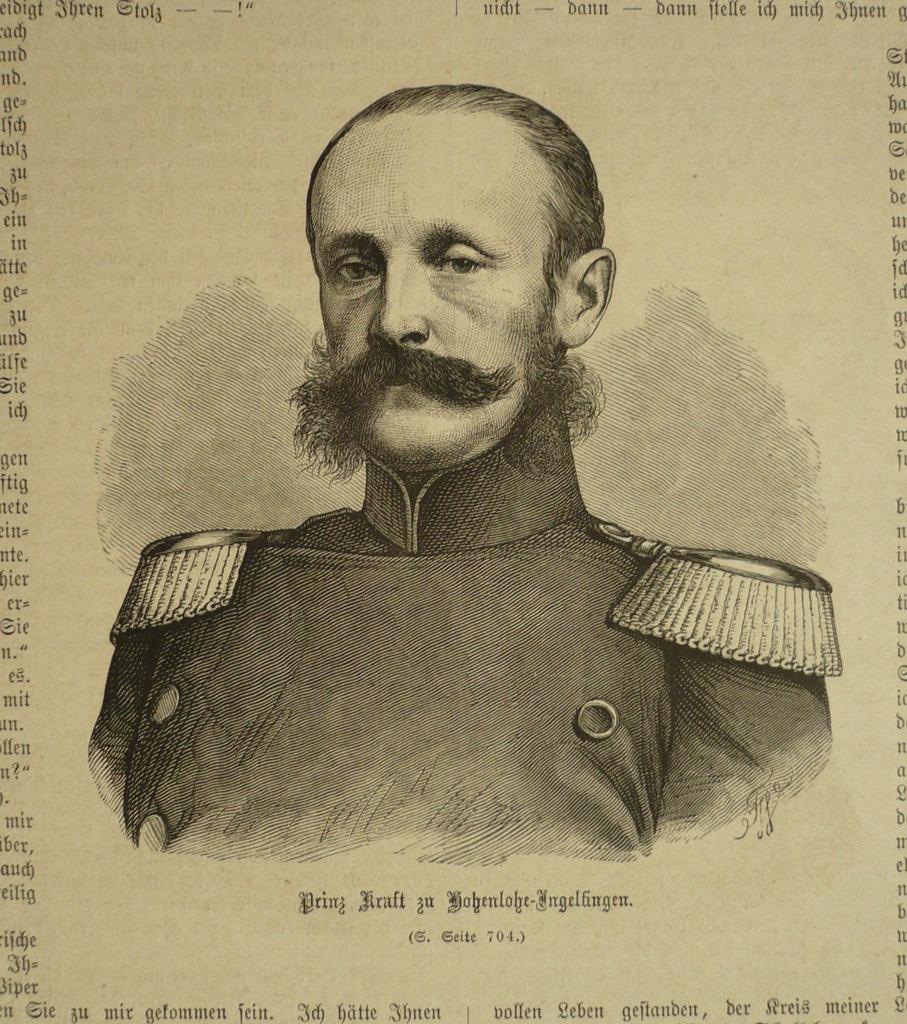 Prinz Kraft zu Hohenlohe-Ingelfingen, oryg. 1871
