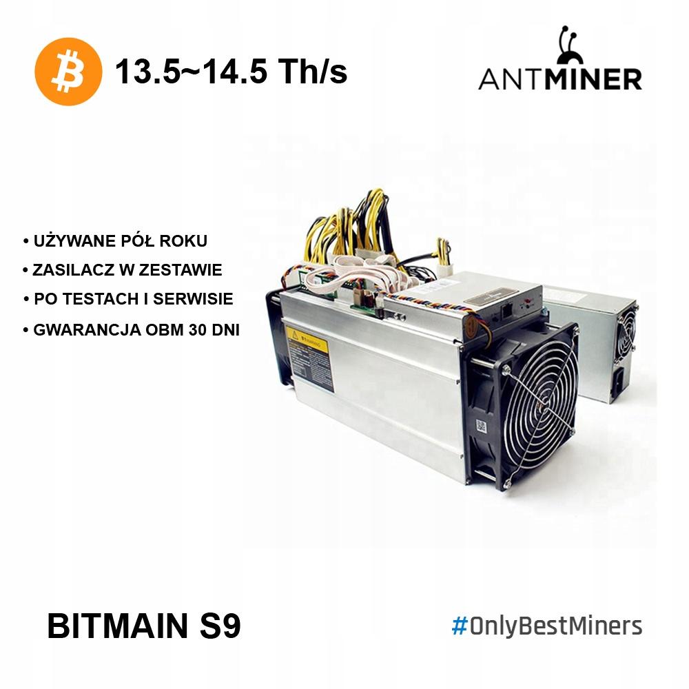 OD RĘKI! Antminer Bitmain S9 + PSU - idealne egz.