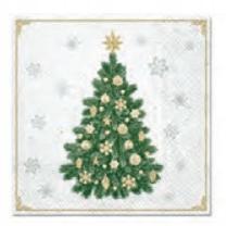 Serwetki papierowe 33x33cm Święta,choinka 20 szt