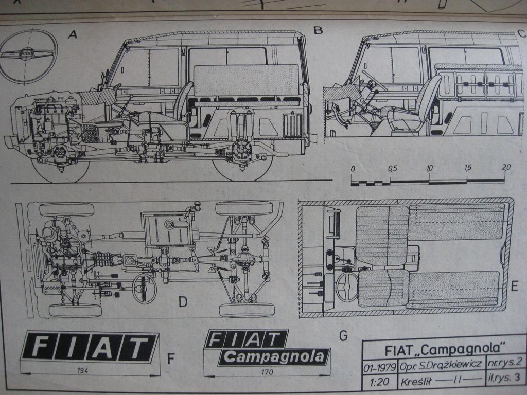 MODELARZ Fiat Campagnola Plan 1980