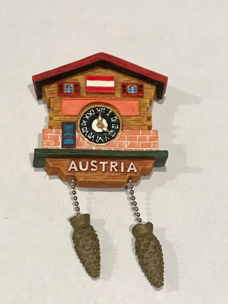 Magnes lodówkę magnez Austria Zegar Tyrol Góry cud