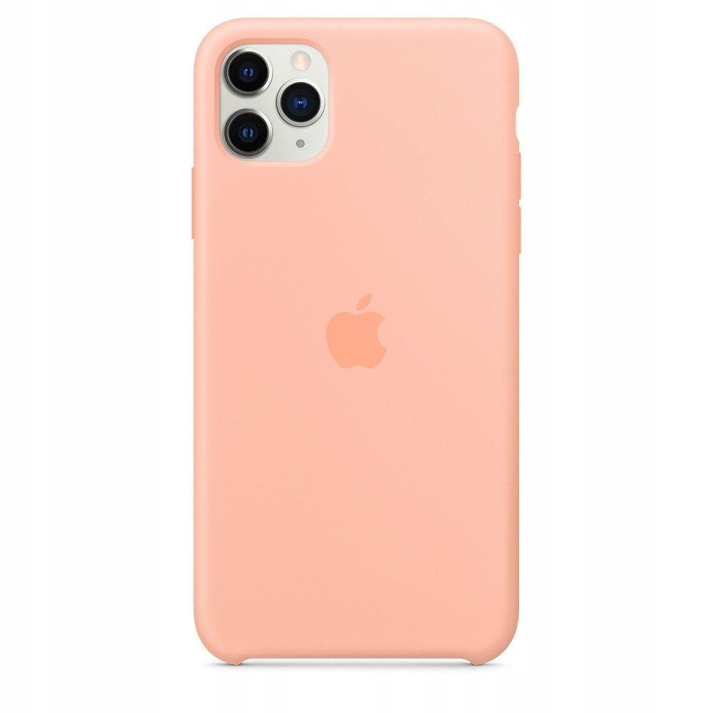 Silikonowe etui do iPhone 11 Pro Max grejpfrutowe