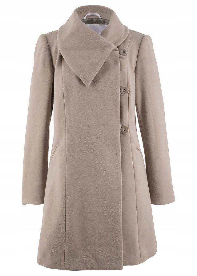 Płaszcz brązowy 40 L 965083 bonprix