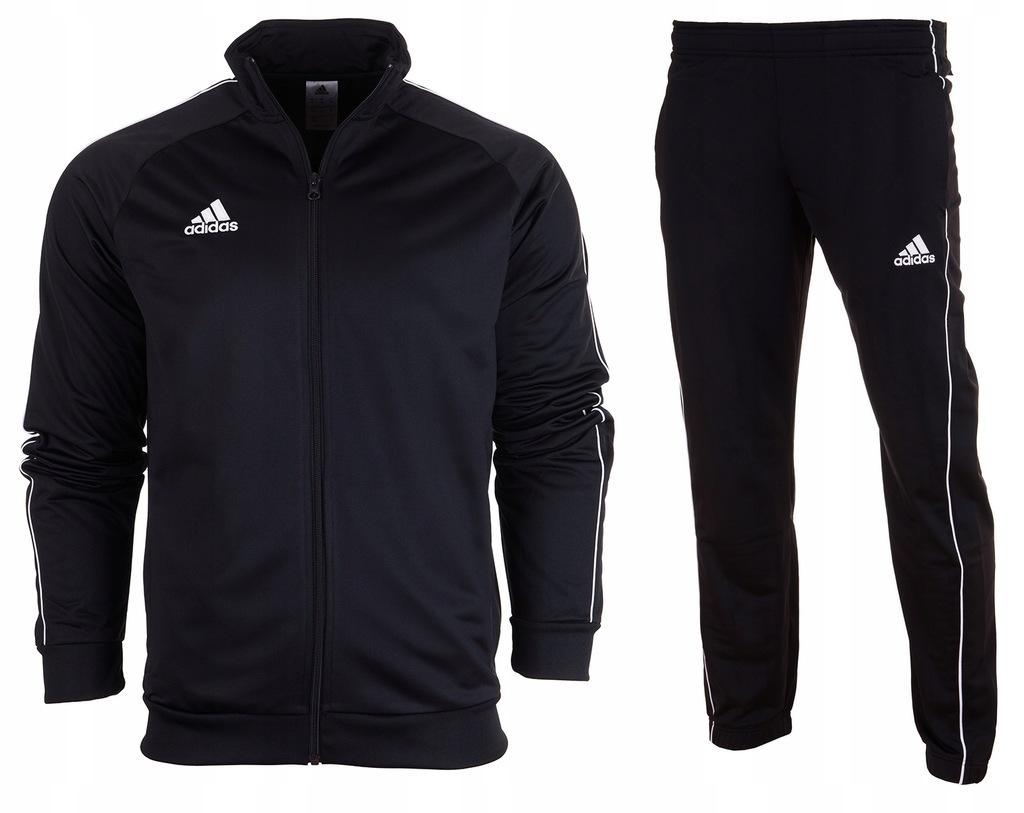 Komplet Dres Adidas Jr Spodnie Bluza Czarny 152 Ceny i
