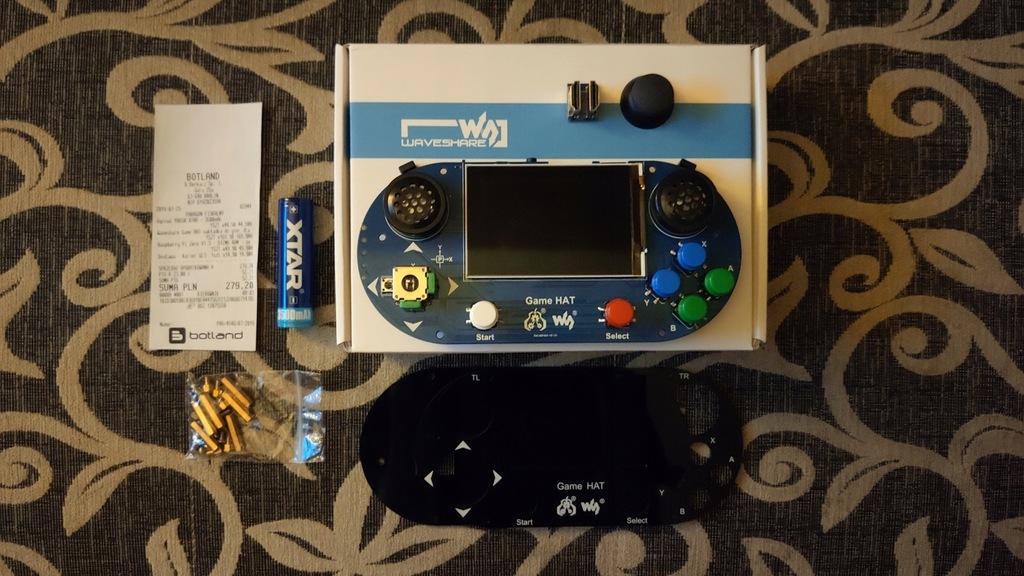 Waveshare Game HAT + Bateria 18650 XTAR - 3500mAh