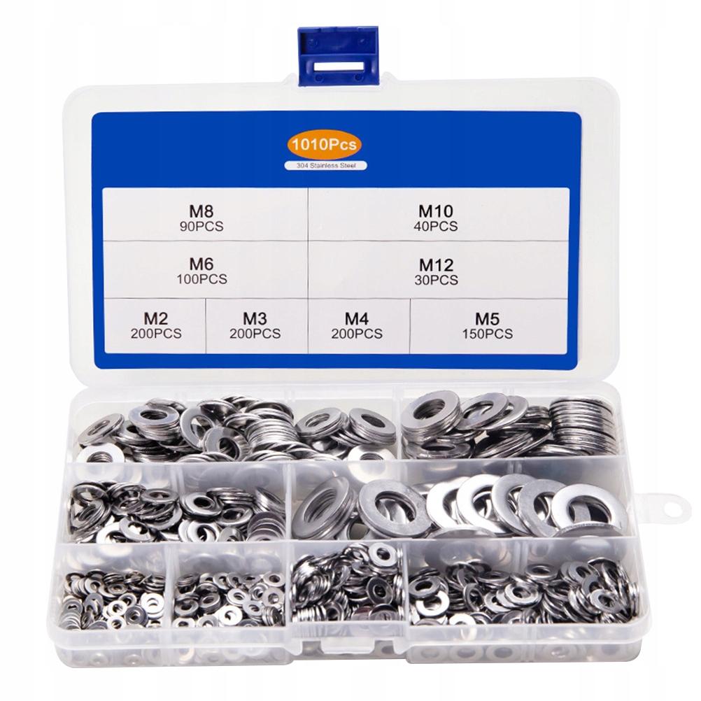 1010 sztuk podkładek ze stali nierdzewnej Metalowa