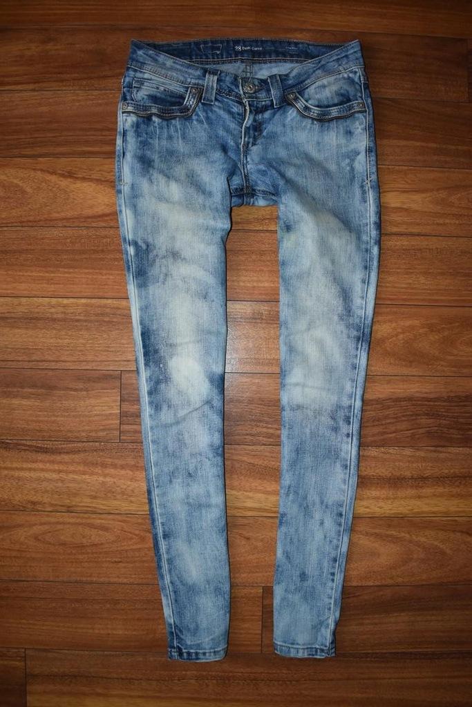 LEVIS CURVE Skinny Rurki Jeansy Jeans W28 L32