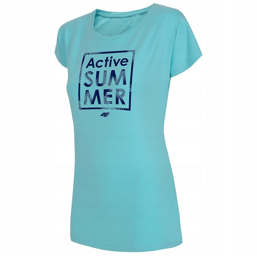 T-Shirt 4F H4L19-TSD011 34S niebieski S