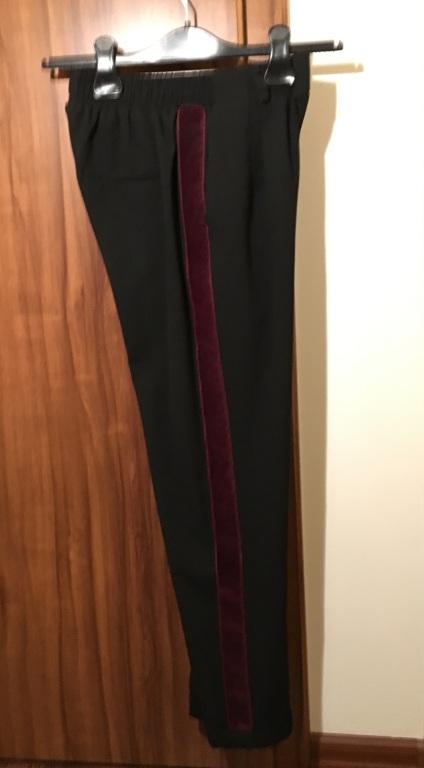 Spodnie na gumce z lampasami, Bershka - S