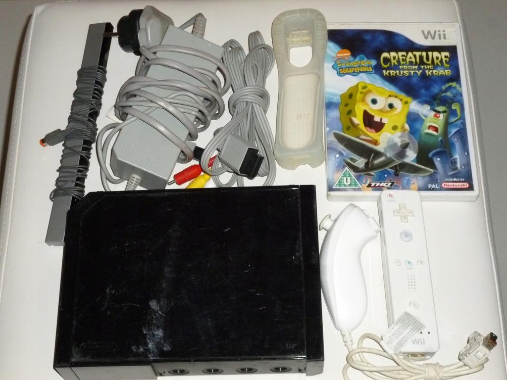 Konsola Nintendo Wii czarna gra pady sprawna