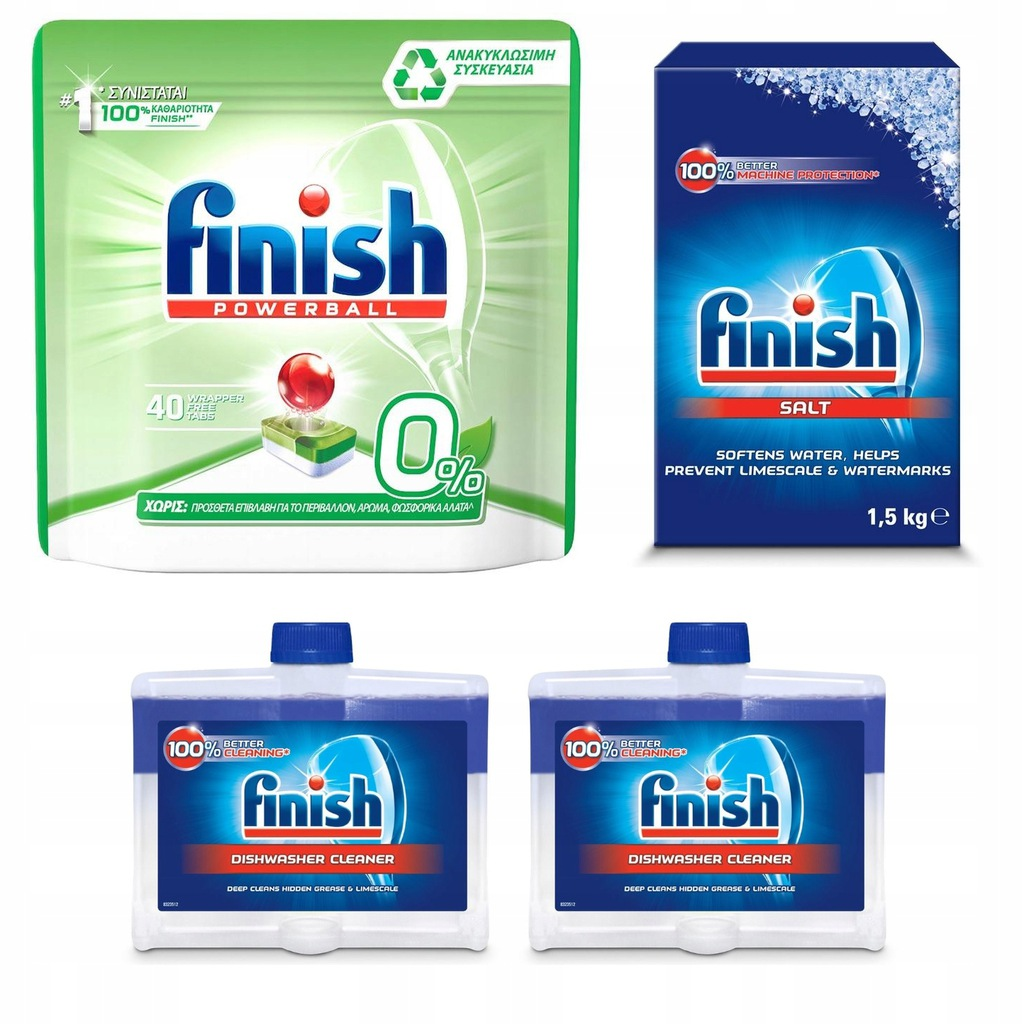 FINISH Zestaw 40szt All in 1 MAX ZERO% Tabletki