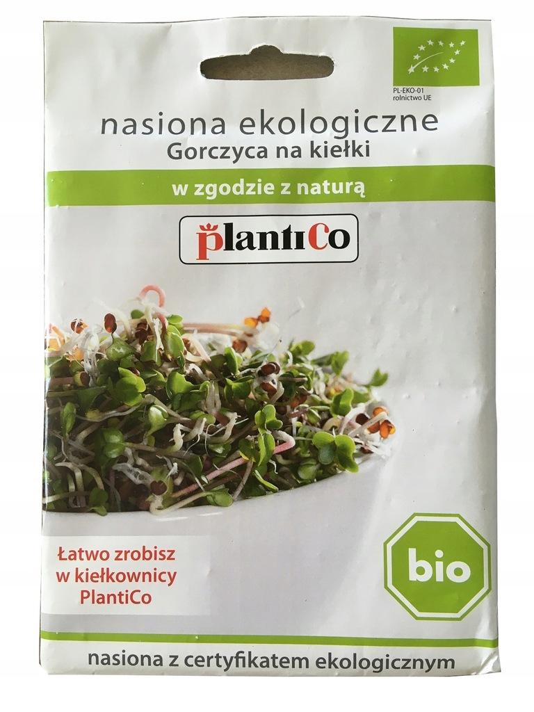 BIO nasiona na kiełki Gorczyca 20g PlantiCo