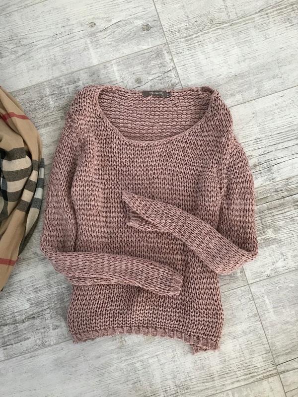 SANDWICH pleciony sweterek XXL 44