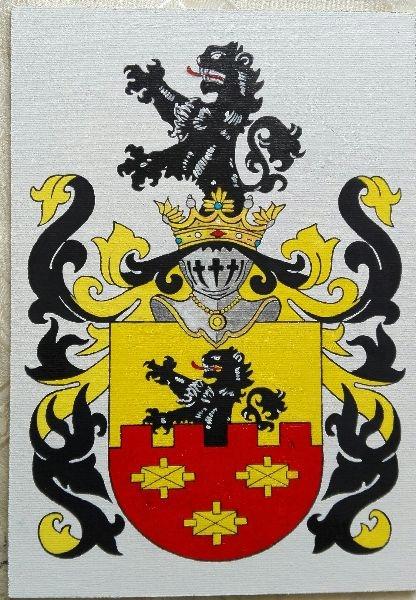 HERB SZLACHECKI ZAREMBA , 21 x 30 cm ( wzór )