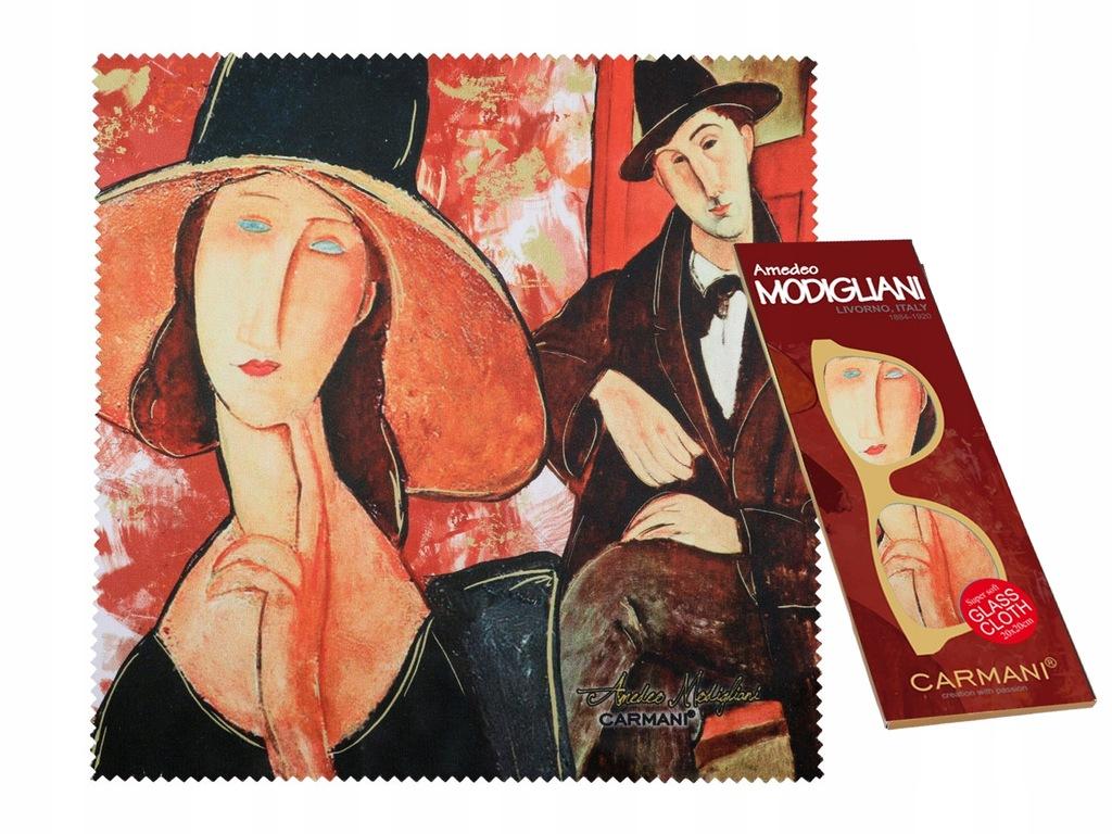 Ściereczka do okularów - A. Modigliani. Kobieta w
