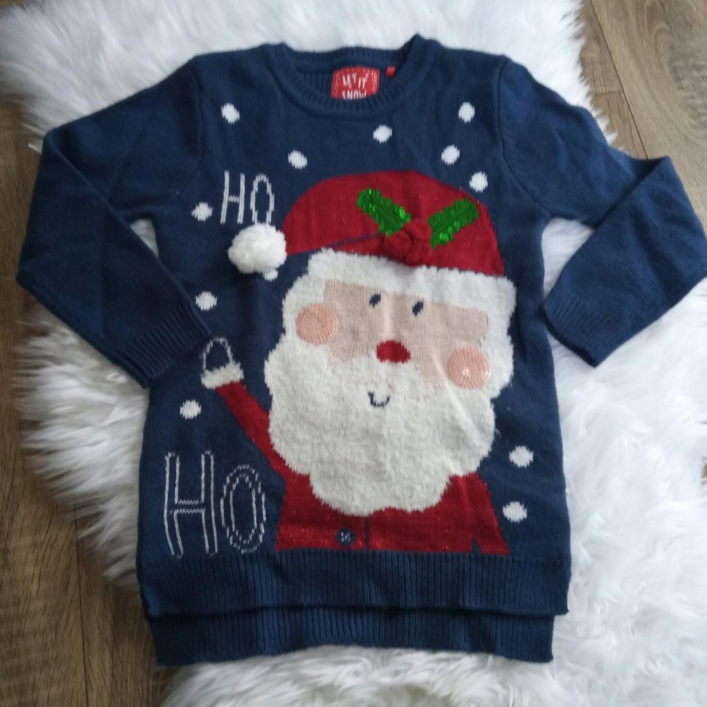 Sweter dziecięcy ŚWIĄTECZNY MIKOŁAJ PIĘKNY 128
