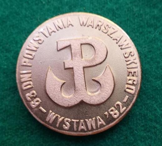 Odznaka-Powstanie Warszawskie Wystawa 1982r.
