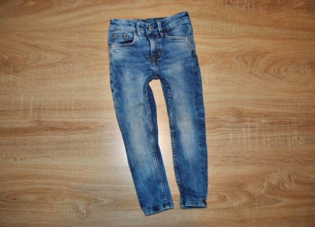 H&M spodnie JEANSY RURKI SUPER SKINNY 98
