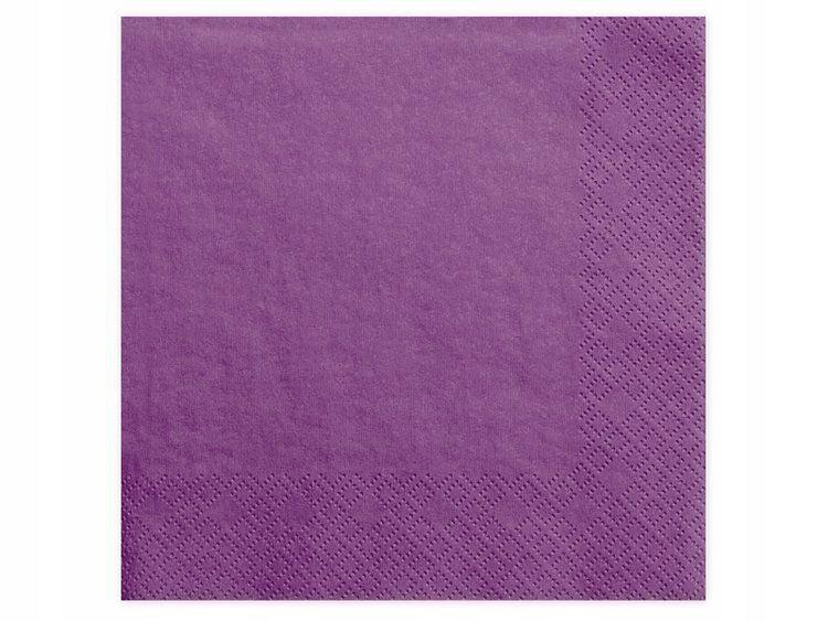 Serwetki trójwarstwowe,j. purpura, 40x40cm,20 szt.