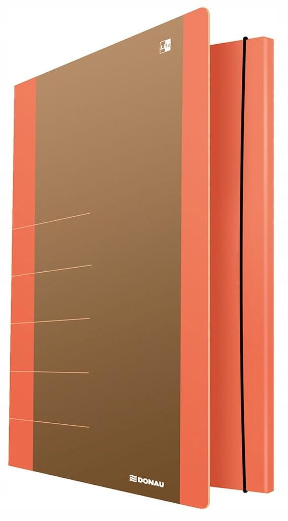 Teczka z gumką DONAU Life, Karton, A4 pomarańcz