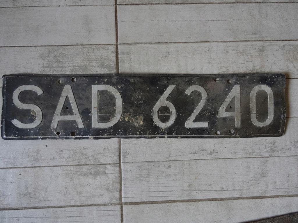 Stara Czarna Tablica Rejestracyjna Sieradzkie 8424174832 Oficjalne Archiwum Allegro