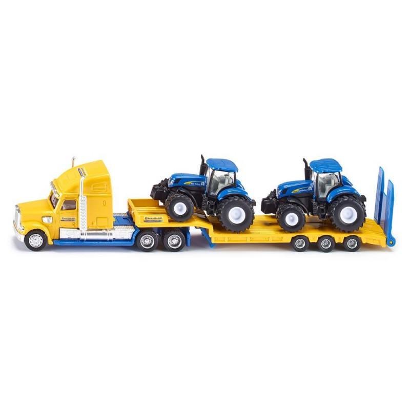 Siku Ciężarówka z traktorami New Holland S 1805