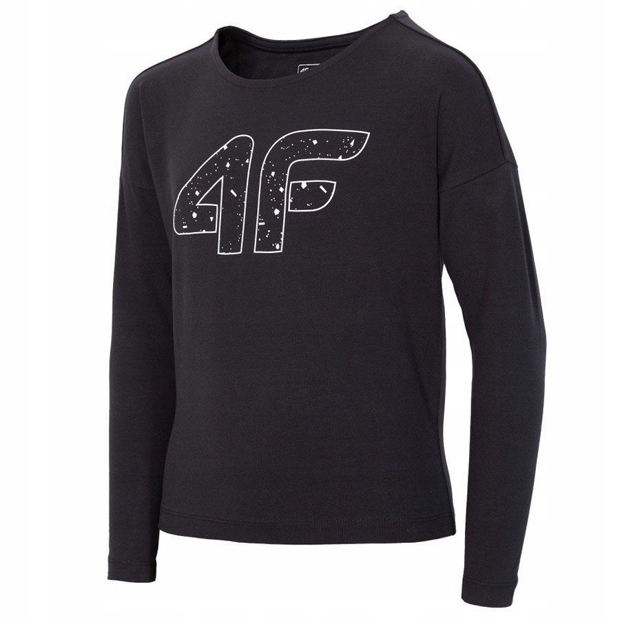 Koszulka 4F HJZ18-JTSDL001 21S 134 cm czarny
