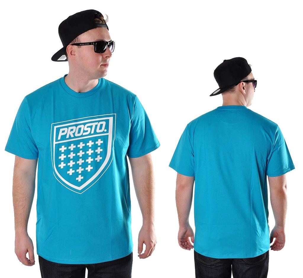 Koszulka M Prosto Klasyk SHIELD XX błękit t-shirt