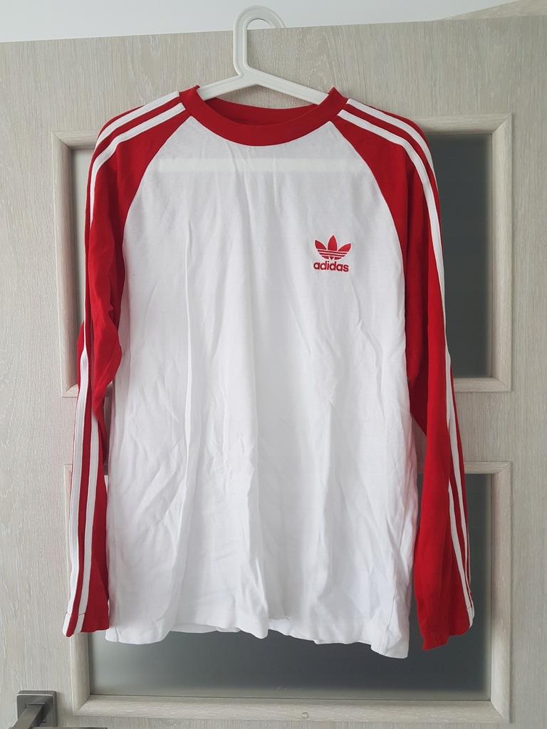bluza adidas biało czerwona