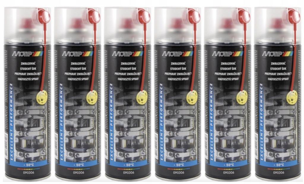 Zmrażacz do montażu spray MOTIP 500ml 6szt