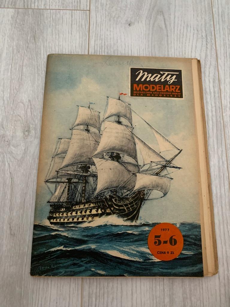 MAŁY MODELARZ NR 5- 6 1977 HMS VICTORY