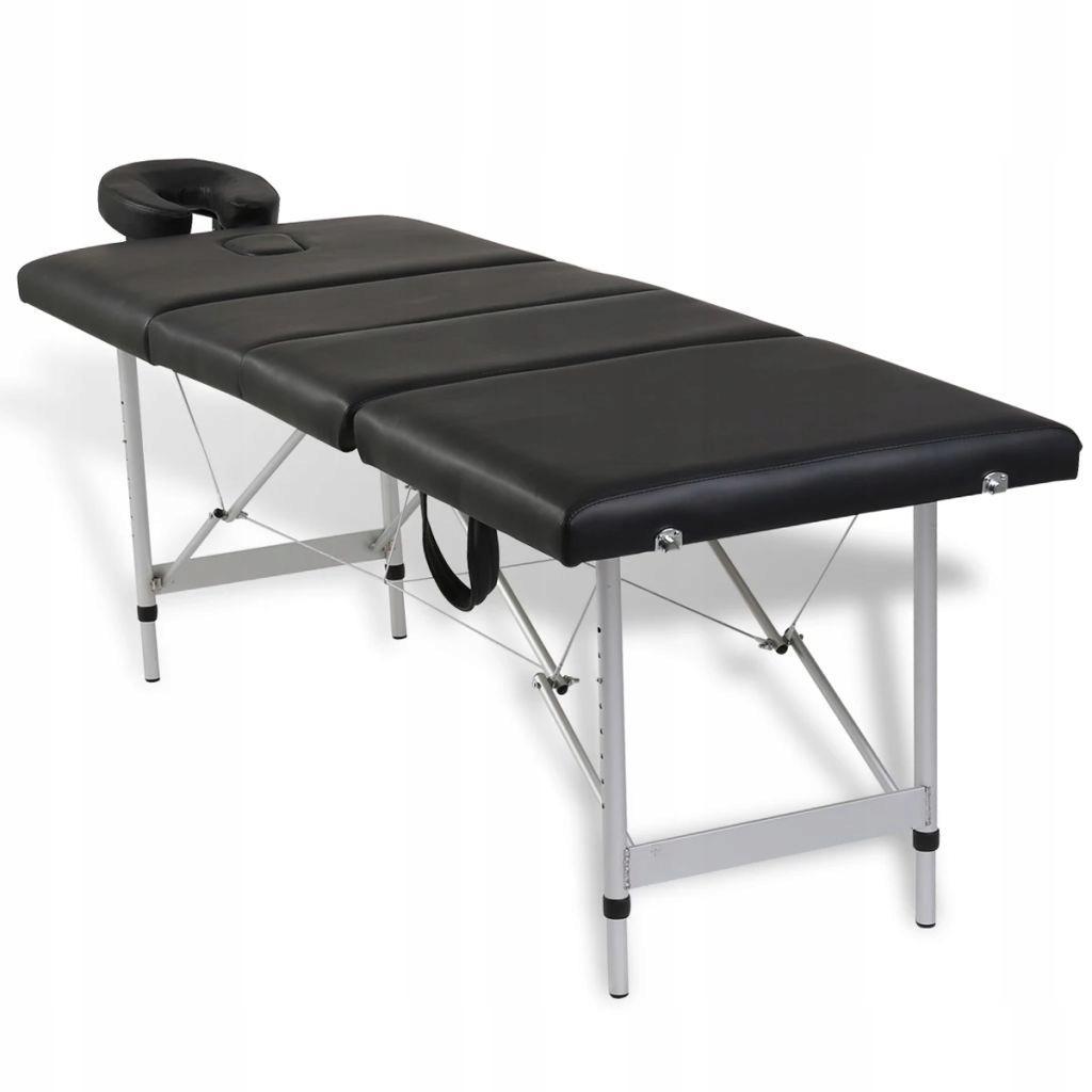 Czarny Skladany Stol Do Masazu 4 Strefy Z Aluminio 7693366390 Oficjalne Archiwum Allegro