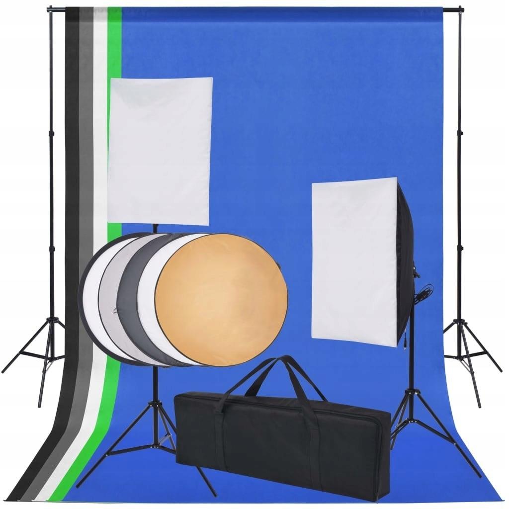 Sprzęt do studia fotograficznego: tło 5 kolorów i