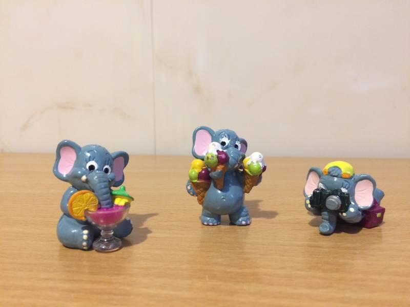 Figurki z Kinder Niespodzianka słoniki,słonie 3szt