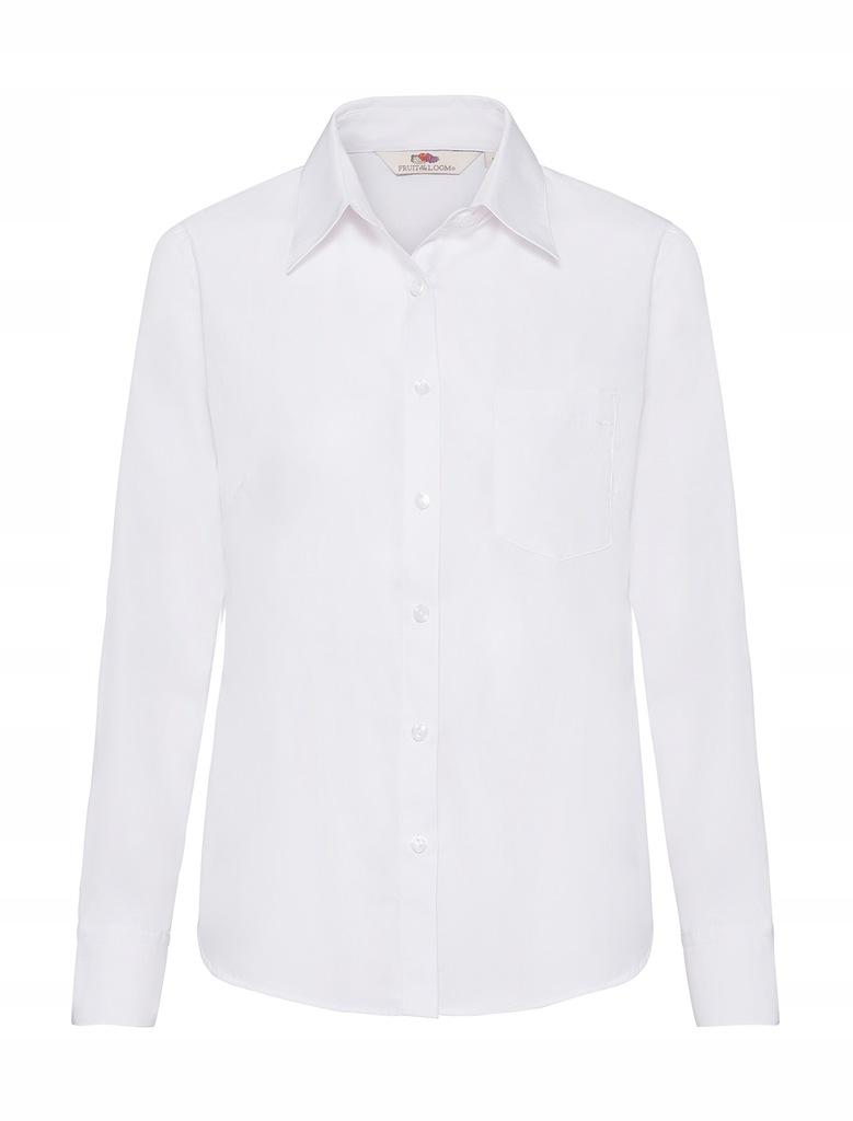 Damska Koszula z kieszonką White XXL 65-012-0