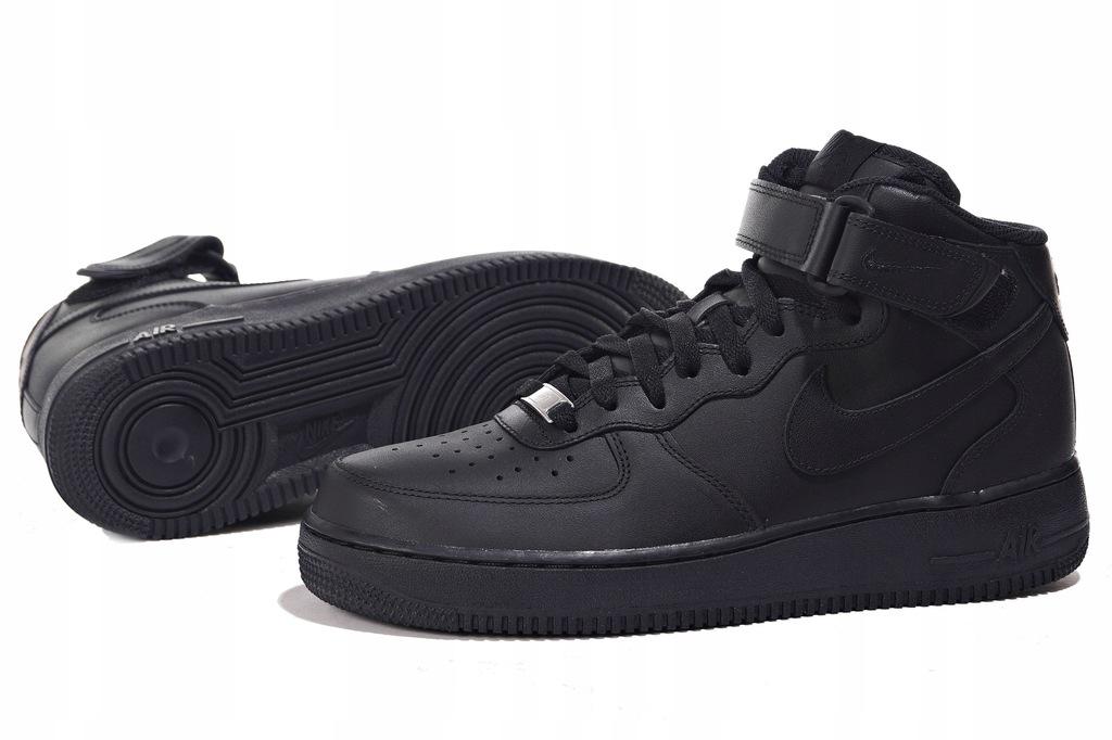 Nike Buty męskie Air Force 1 Mid 07 czarne r. 45 12 (315123